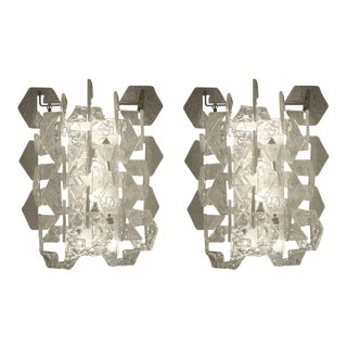 Mazzega Style Sconces, Italy, 1960s - a Pair For Sale