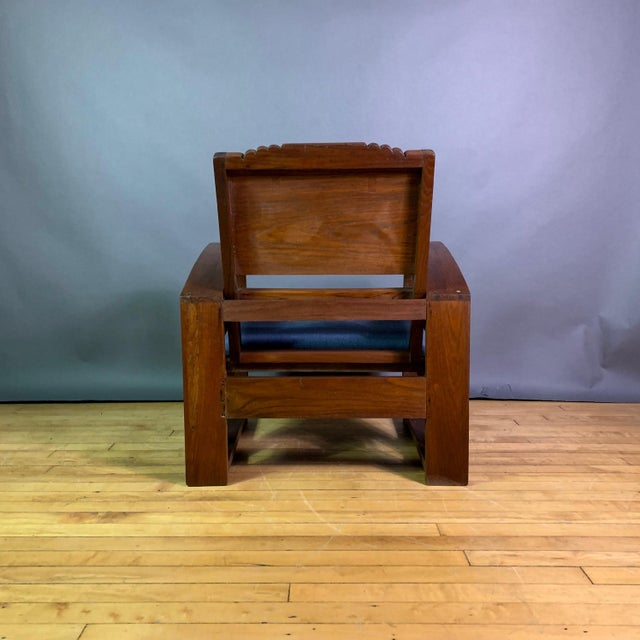 1930s Solid Teak Veranda Chair, Danish Colonial Indonesia For Sale In New York - Image 6 of 11