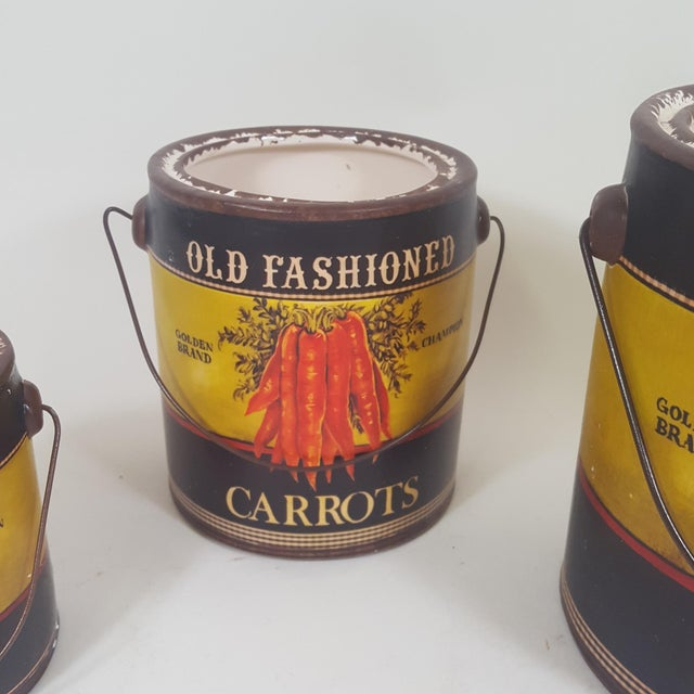 Carrot Canister Containers - Set of 3 For Sale - Image 4 of 8