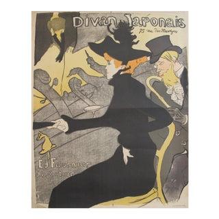 1960s Toulouse Lautrec Poster, Divan Japonais