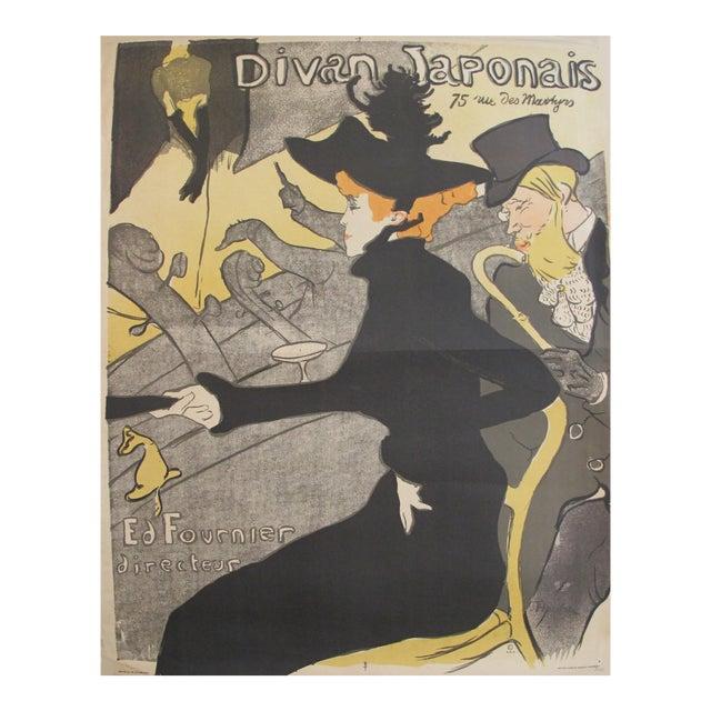 1960s Toulouse Lautrec Poster, Divan Japonais For Sale