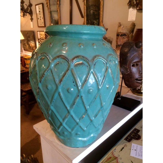 Early 20th Century Turquoise Glaze Jar by Galloway For Sale - Image 5 of 9