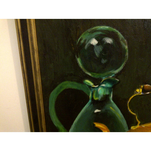 """Vintage """"Tea Kettle"""" Painting by John Micheal For Sale - Image 7 of 9"""
