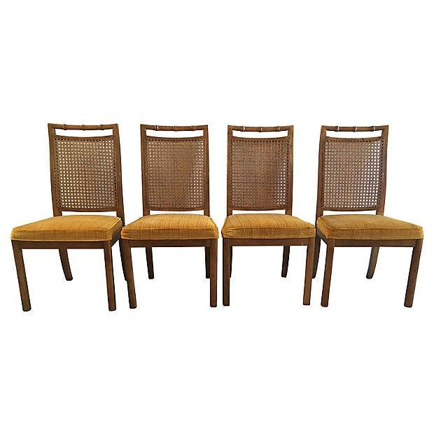 Heritage Faux Bamboo Dining Chairs - Set of 6 - Image 5 of 8