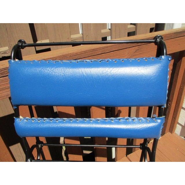 Illana Goor Leather Wrought Iron Bar Stools - Pair - Image 10 of 11