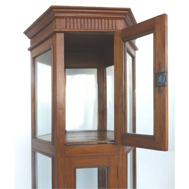 Antique Hexagonal Display Cabinet - Image 4 of 10