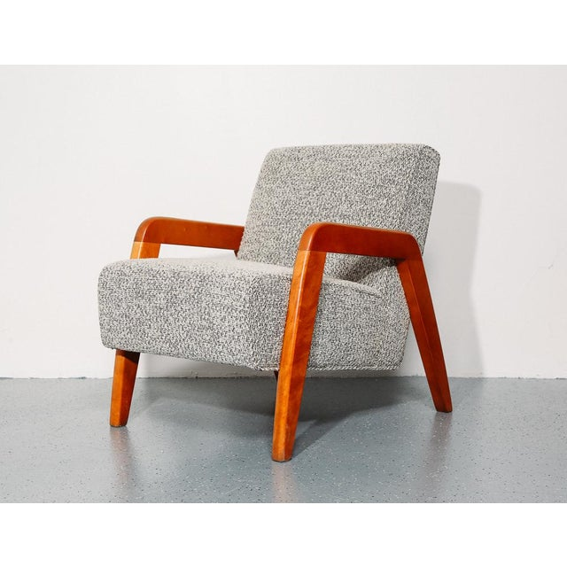 Danish Modern Russel Wright Slipper Chair For Sale - Image 3 of 9
