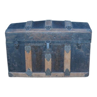 Antique Small Domed Trunk For Sale