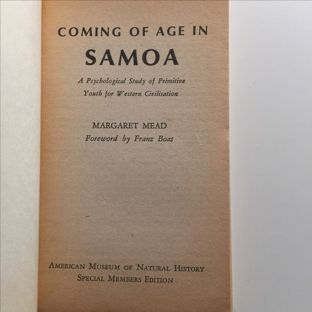 Coming of Age in Samoa, Margaret Mead 1973 For Sale - Image 4 of 5