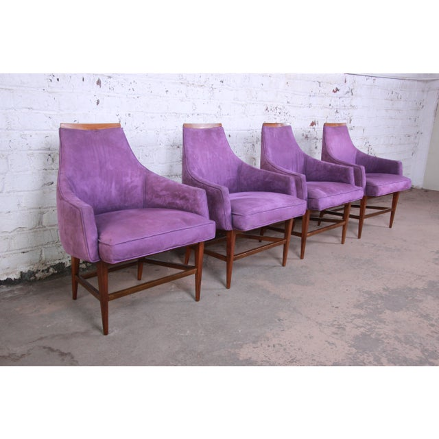 Kipp Stewart for Directional Mid-Century Modern Lounge Chairs - a Pair For Sale - Image 11 of 13