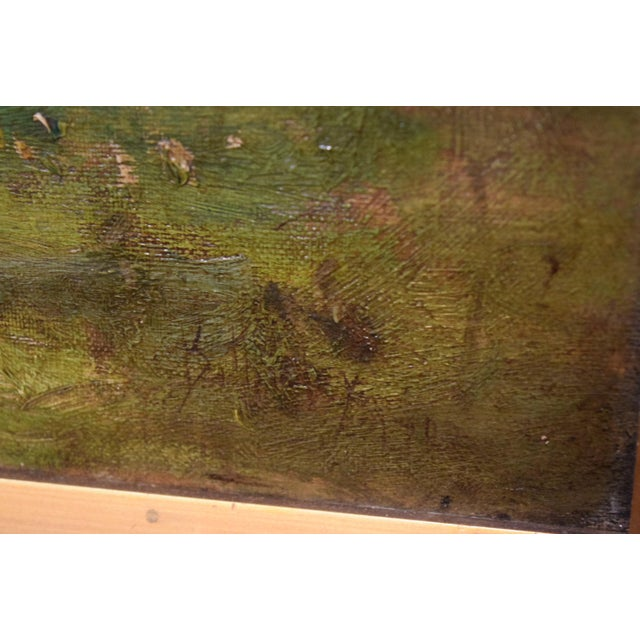 "Oil on Canvas-""Impressionist Landscape"" Signed Edwin Bottomley, Dated 1902 For Sale - Image 4 of 8"