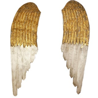 20th Century Gilded Wooden Wings - a Pair For Sale