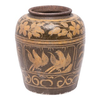 19th Century Chinese Magpie Egg Jar For Sale