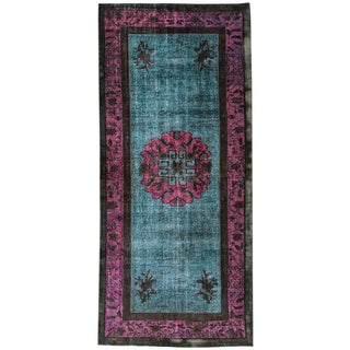 Turkish Overdyed Wool Rug For Sale