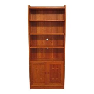 Arts Crafts Stickley Cherrywood Open Bookcase Cabinet