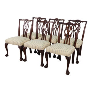 Kindel Collection Ball & Claw Chippendale Dining Chairs- Set of 6 For Sale