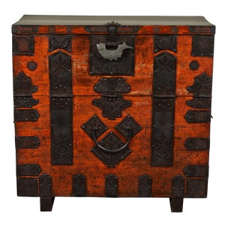 Rare 19th Century Korean Chest For Sale