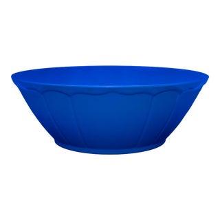 "Terra Dark Blue 12.5"" 9"" Melamine Salad Bowl For Sale"