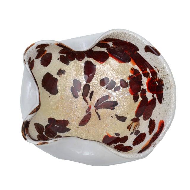 Italian Murano Glass Bowl with Gold Flecks - Image 3 of 5