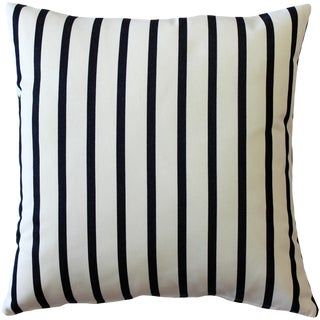 Sunbrella Lido Indigo Striped Indoor / Outdoor Pillow For Sale