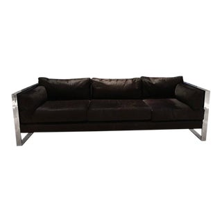 Milo Baughman Mid-Century Chrome Sofa For Sale