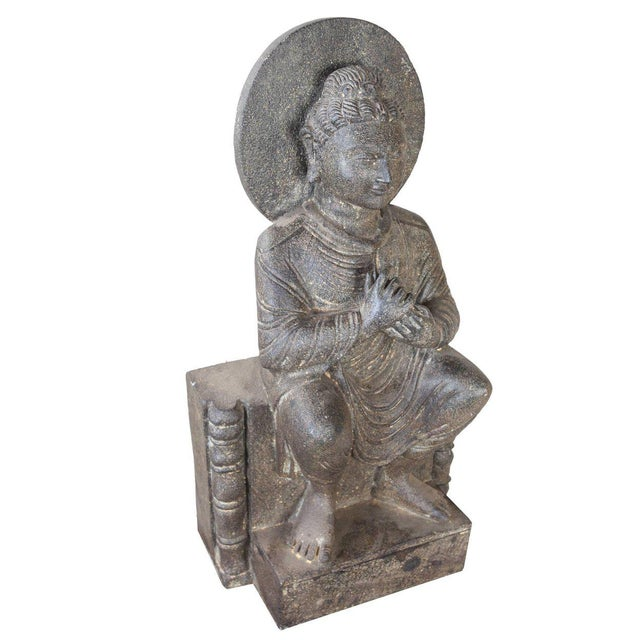 Granite Sitting Buddha, India, Early 1900s For Sale - Image 4 of 10