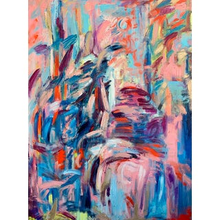 """""""Wait Outside"""" Contemporary Abstract Expressionist Oil Painting by Monica Shulman For Sale"""