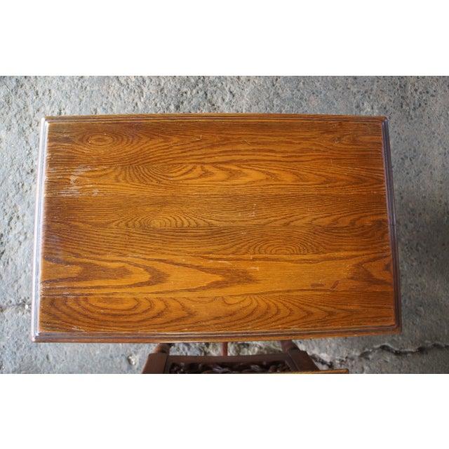 Jacobean Feudal Oak Jamestown Lounge Co Spanish Revival Nightstand For Sale - Image 3 of 10