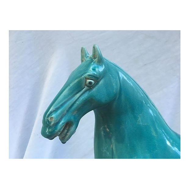 Chinese Tang-Style Turquoise Horse - Image 3 of 6