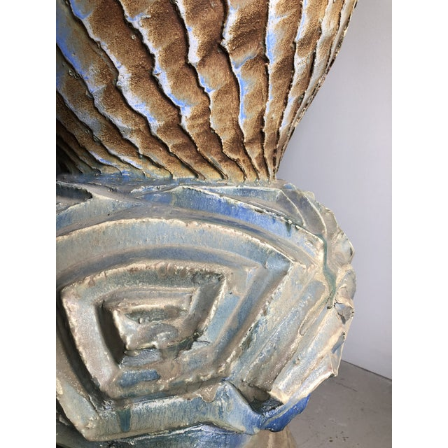 Contemporary Monumental Sculptural Studio Pottery Vessel Floor Vase by Josh Green For Sale - Image 3 of 8