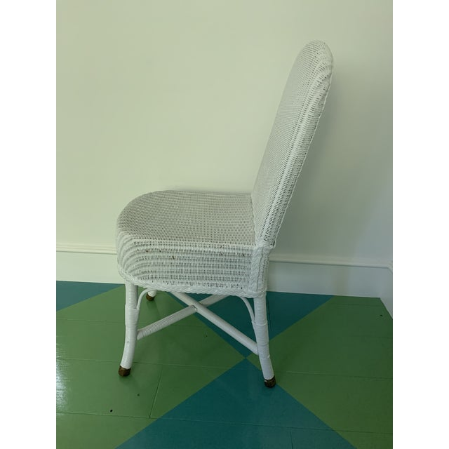 Vintage Lloyd Loom English Wicker Chairs - a Pair For Sale - Image 4 of 8