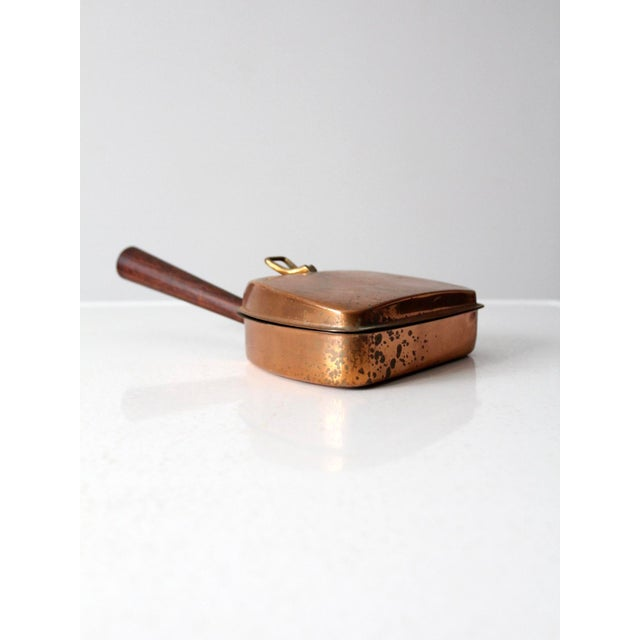 Gold Mid-Century Italian Copper Silent Butler For Sale - Image 8 of 11