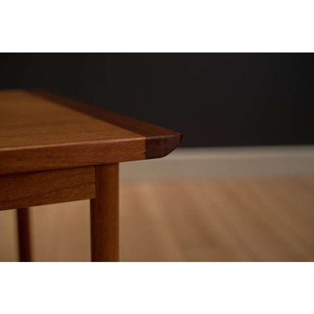 Brown 1960s Mid-Century Modern Westnofa Teak Side Table For Sale - Image 8 of 12
