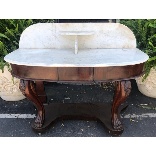 Antique Victorian Mahogany Dry Sink Bar For Sale In Los Angeles - Image 6 of 6