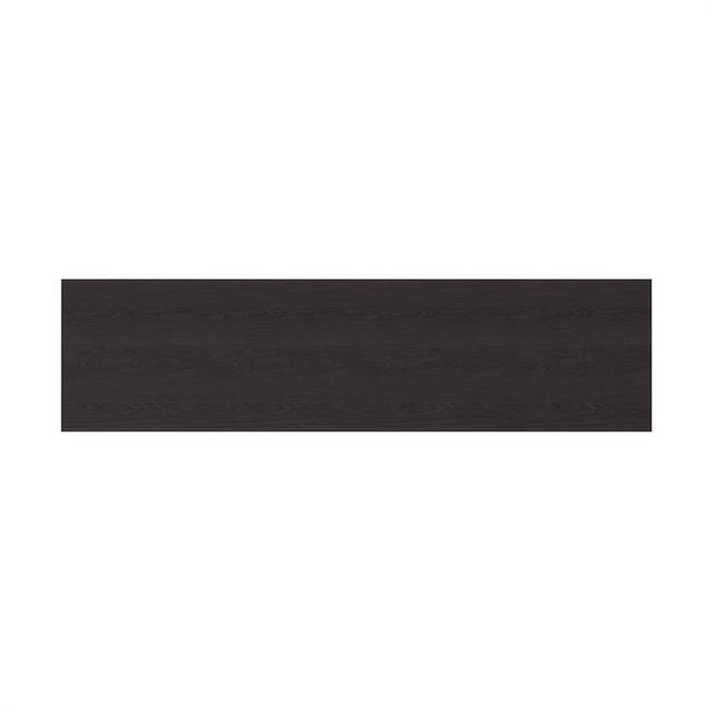 Contemporary Modern Kenneth Ludwig Chicago Black Wood Grain Console Table For Sale - Image 3 of 6