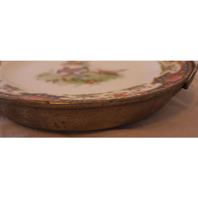 Victorian Hot Water Reservoir Transferware Plate For Sale - Image 4 of 7