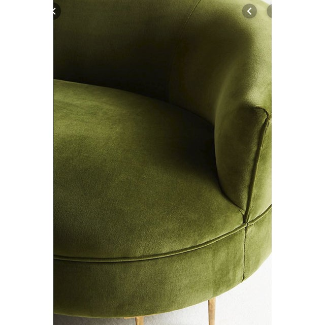2010s Anthropologie Grace Two-Piece Serpentine Sectional in Emerald Velvet For Sale - Image 5 of 7