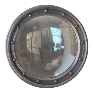 20th Century Industrial Silver Convex Mirror