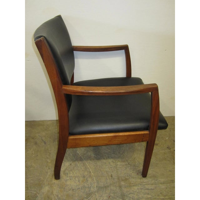 Jens Risom Mid Century Side Arm Chair Pair - Image 7 of 9