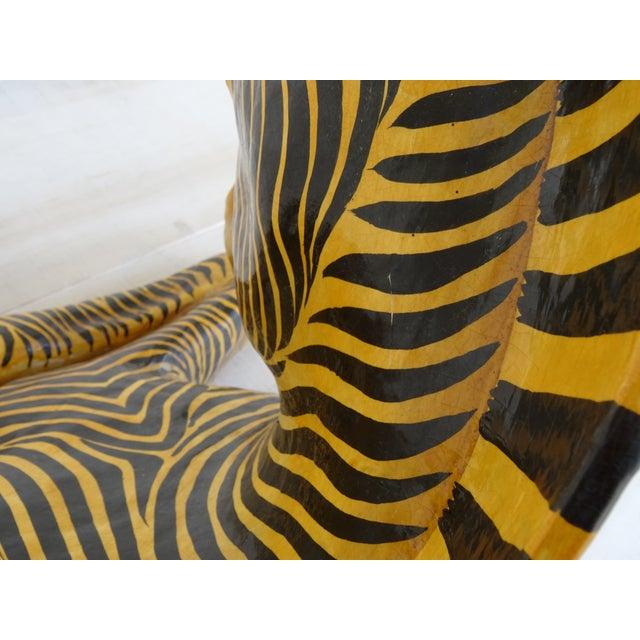 Vintage Mid-Century Sermel Art Paper Mache Zebra For Sale - Image 9 of 12