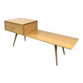 Vintage Paul Mccobb Planner Group Bench & Single Drawer Cabinet, 1950s For Sale