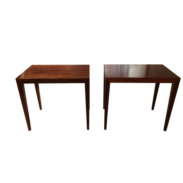 Vintage Danish Midcentury Rosewood Side Tables - 2 - Image 1 of 5