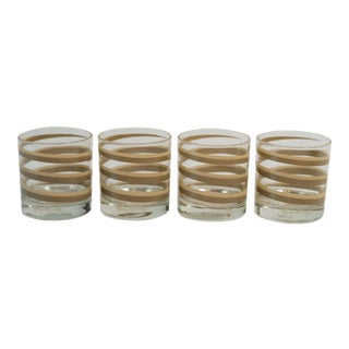 Vintage Georges Briard Swirl Lowball Glasses - Set of 4 For Sale