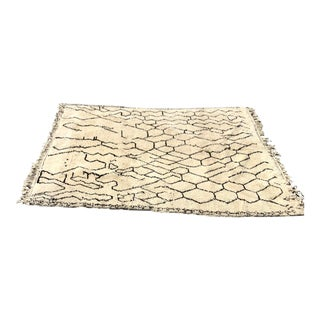 Beni Multi Design Rug - 7′ × 9′3″ For Sale