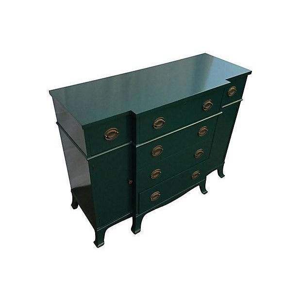 Teal Lacquered Secretary Desk - Image 3 of 7