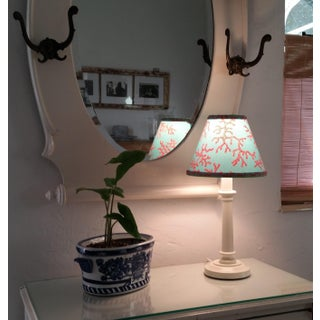 Lilly Pulitzer Fabric Lampshade Blue Red Clip On Preview