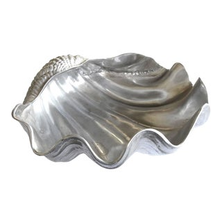 A Finely Detailed American Aluminum Clam Shell by Arthur Court, San Francisco