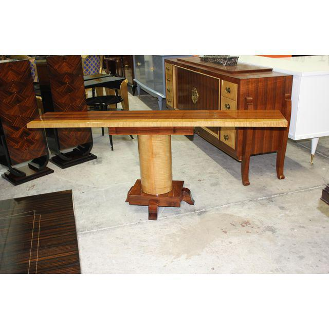 1940s French Art Deco Palisander / Sycamore Long Console Tables - a Pair For Sale - Image 9 of 10