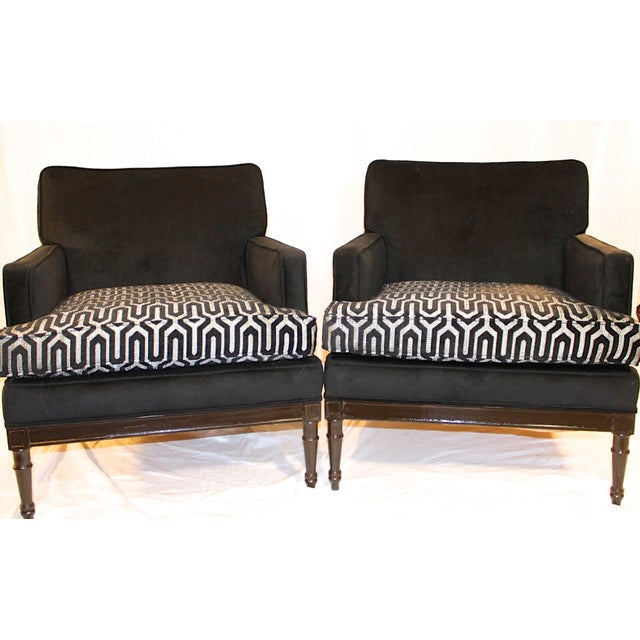 Hollywood Regency Vintage Mid-Century 1950s Club Chairs - A Pair For Sale - Image 3 of 7