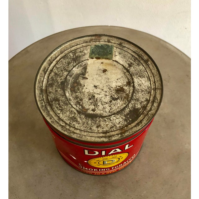 Metal Vintage Tobacco Tin With Labels For Sale - Image 7 of 10